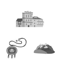 Design attributes and tourism icon set vector