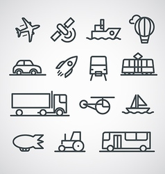 Different transport icons collection clip-art vector