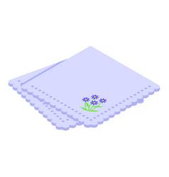 Dinner handkerchief icon isometric style vector