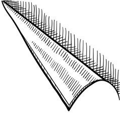 Doodle corner curl page vector