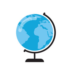 earth globe on stand vector image