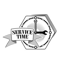 emblem or logo for car service or repair cars vector image