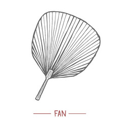 fan in hand drawn style vector image