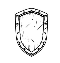 Fantasy warrior shield vector