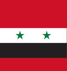 flag in colors of syria image vector image