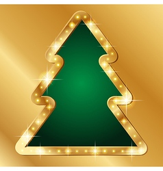 Flash banner christmas tree vector image
