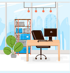 flat collection creative workplace vector image
