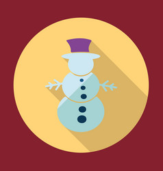 Flat modern design with shadow snowman vector