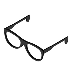 Glasses isometric 3d icon vector image