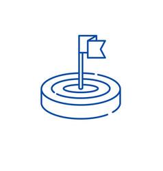 goals line icon concept goals flat symbol vector image