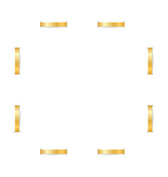 gold frame 3d square border isolated white vector image