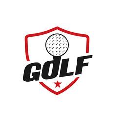 golf sport graphic design inspiration vector image