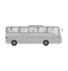 Green tour bus icon in monochrome style isolated vector