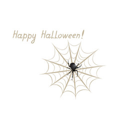 Happy halloween greeting card holiday background vector