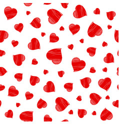 hearts seamless pattern happy valentines day vector image