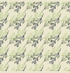 Horizontally lined flower print in pastel colours vector