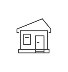 house concept minimal icon in thin line vector image