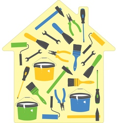 house tools icons vector image