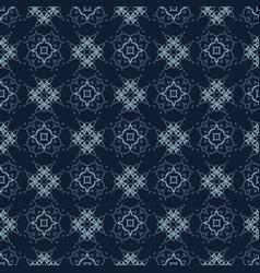 indigo pattern patchwork style seamless vector image