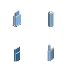 isometric skyscraper set of building skyscraper vector image