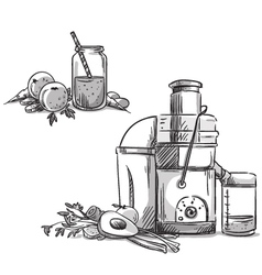 Juicing machine vector image