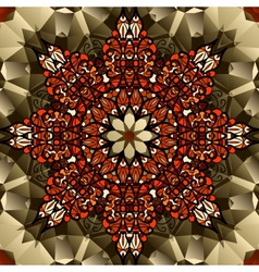 Kaleidoscope design Mandala lotus flower symbol vector