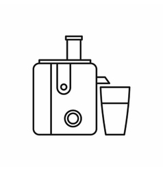Kitchenware juicer icon outline style vector