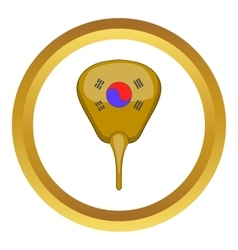 Korean hand fan icon vector