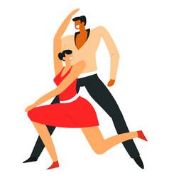 man and woman dancing samba latin american dance vector image