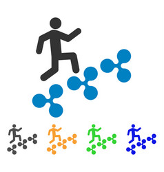 Man climb ripple icon vector