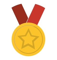 medal star champion winner vector image vector image