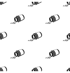 Medicines icon in black style isolated on white vector image