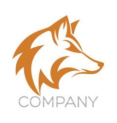 modern fox logo vector image