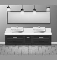 modern realistic bathroom interior design vector image