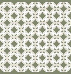 Monochrome green geometric seamless pattern retro vector
