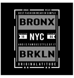 new york city typography for t shirt vector image