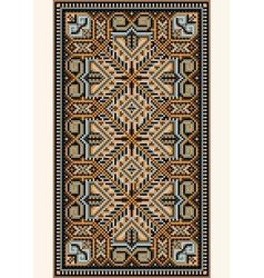 Oriental design in frame for carpet vector