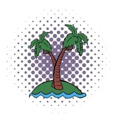 Palm tree comics icon vector image