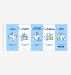Parent strategies for adhd onboarding template vector