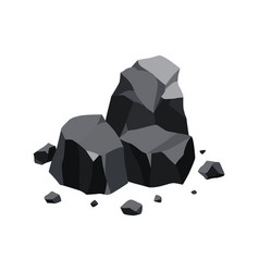pile coal fossil stone black mineral vector image