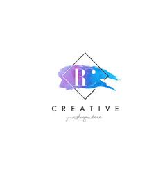 Rc artistic watercolor letter brush logo vector