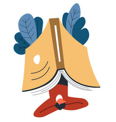 Reading books and interesting stories hob vector