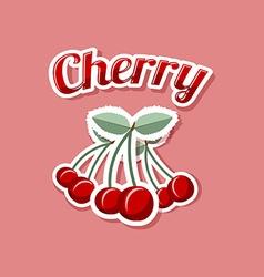 Retro cherry vector image