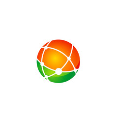 round global technology logo vector image