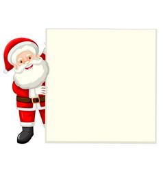 santa holding white paper vector image