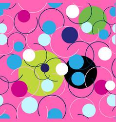 seamless abstract bright pattern circles vector image