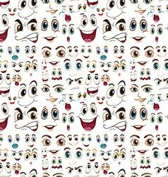 Seamless facial expressions vector image