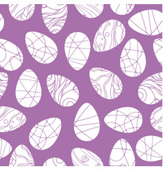Seamless pattern with white easter eggs vector
