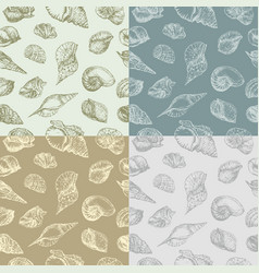 seashells pattern vector image