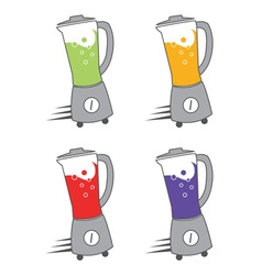 Set of blenders with juice vector